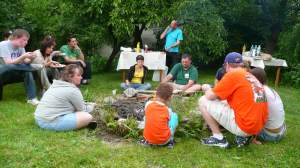 Team TAG/ Hope for Children BBQ. Bonfire with the local Baptist Church