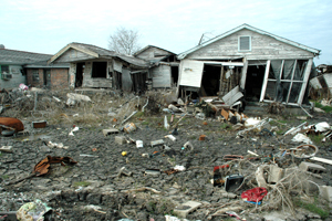 Destruction in New Orleans