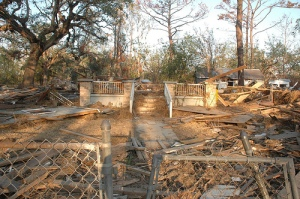 Destruction in Pearlington, Miss.