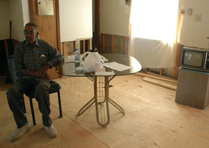 Irvin Baptiste in his Lacombe, La., home just months after the storm.