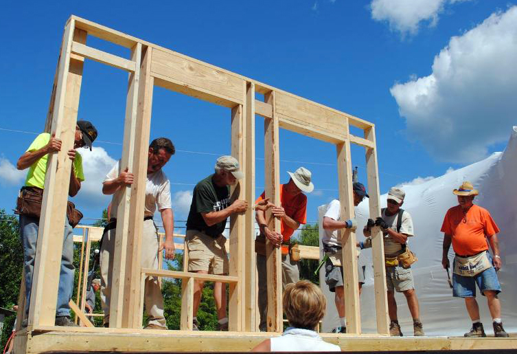 What can 120 volunteers do in about 10 days cbfblog - When building a house ...