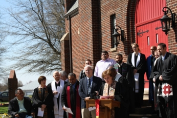 Ministers rally at First Baptist Church, Winston-Salem, N.C. Photo by CBFNC.