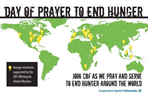 Cooperative baptist fellowship of north carolina about news the cooperative baptist fellowship is joining with the catholic church and other faith groups in prayer to end world hunger pope francis in conjunction sciox Gallery