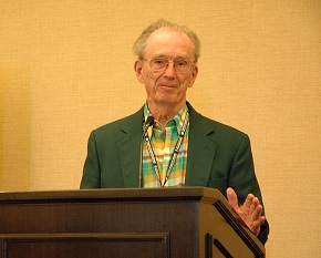 Hurst accepting the Advocate of the Year award at the 2012 CBF General Assembly.