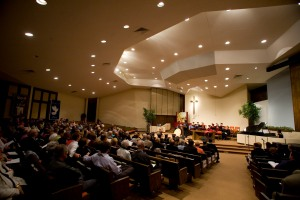 CBF churches regularly host events for Central such as the commencement ceremony pictured below at Holmeswood Baptist Church in Kansas City, Mo.