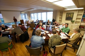 Dawnings participants discern together at the Ignatius House Retreat Center in Atlanta, Ga.