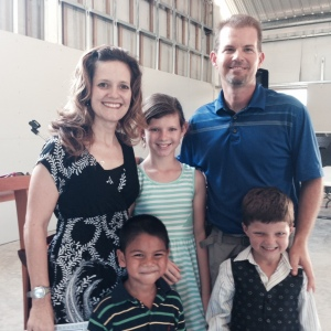 Julie and Eric Maas pictured with their children.