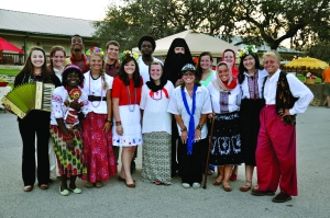 PASSPORTkids! camp staff dress in traditional Ukranian style for the weekly Night Market, during which the campers were immersed in Ukranian culture.