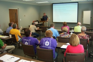 Disaster response volunteers at training event.