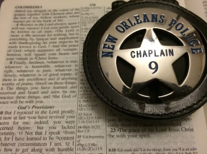 Badge on Bible