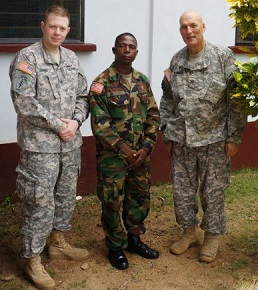 CBF-endorsed U.S. Army Africa Chaplain Charles Reynolds gives hope in Ebola-stricken Liberia