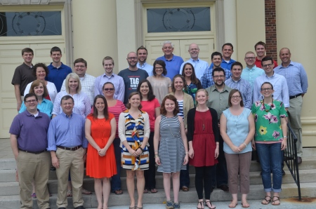 "Twenty-five ministers in their ""first call"" ministry position joined together at First Baptist Church of Decatur, Ga., in August for the CBF Fellows 2014-2016 Cohort Retreat. These ministers will meet at least twice a year during the course of the next two years to learn and grow together."