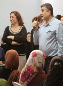 CBF field personnel Chaouki and Maha Boulos share in leadership of the women's group, a ministry Maha began with 15-20 women in attendance, which now hosts over 300 women and distributes more than 300 food packages to refugee families every 4 to 6 weeks.