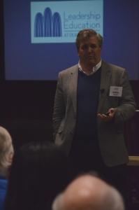 Greg Jones addresses group at CBF Consultant Summit.