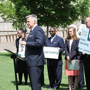 """CBF pastors speak out at Capitol Hill launch of diverse """"Just Lending""""coalition"""