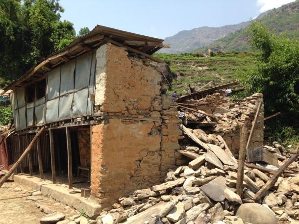 Home in Khadichaur, Sindhupalchowk, Nepal.