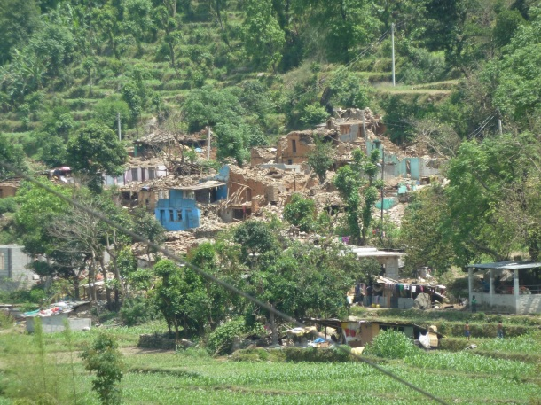 Entire village hamlet decimated by the 7.8 magnitude earthquake in Khadichaur, Sindhupalchowk, Nepal.