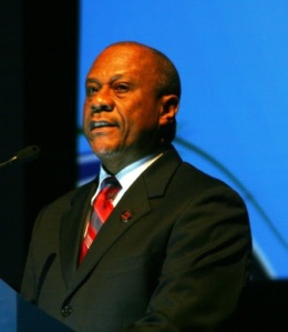 Anthony Carroll of the Bahamas speaking during the Baptist World Congress in Durban, South Africa on July 24