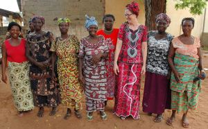 Lynn Hutchinson (third from right) gathers with Baptist women's groups within her community in Togo. The Hutchinsons live in the community in which they serve and celebrate the assets that each individual brings to the table.