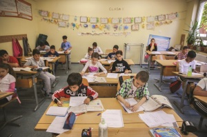 In a classroom at the Ruth School, Roma children are given opportunities to receive an education that does not discriminate based on their cultural background. Here they are taught to read and write in the Roma language and Romanian as a means to succeed in society.