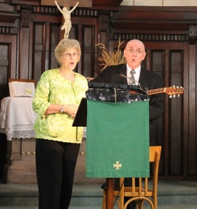 CBF field personnel Julie and David Brown sing and preach at a traditional French Protestant church, using their gifts in a congregational setting before traveling throughout Paris to visit international churches.