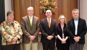 The CBF Virginia search team with Terry Maples. (From left to right) Kathy Shereda, David Turner, Terry Maples, Susan Prather, Scott Spencer. Not pictured: Dennis Sacrey and Mark White.