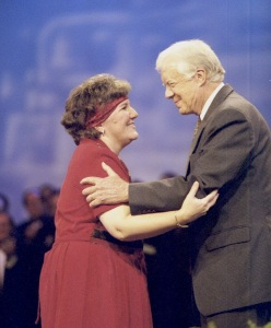During her time as CBF moderator, Forrester led during the CBF General Assembly alongside President Jimmy Carter.