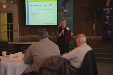 MLT convener Terri Byrd opens up the three-day gathering of CBF state and regional leaders.