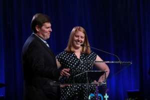 Larry and Lauren Hovis bring greetings June 20 to kickoff the 25th Anniversary CBF General Assembly in Greensboro, N.C.
