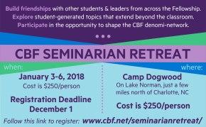 Register now for CBF Seminarian Retreat – January 3-6,2018