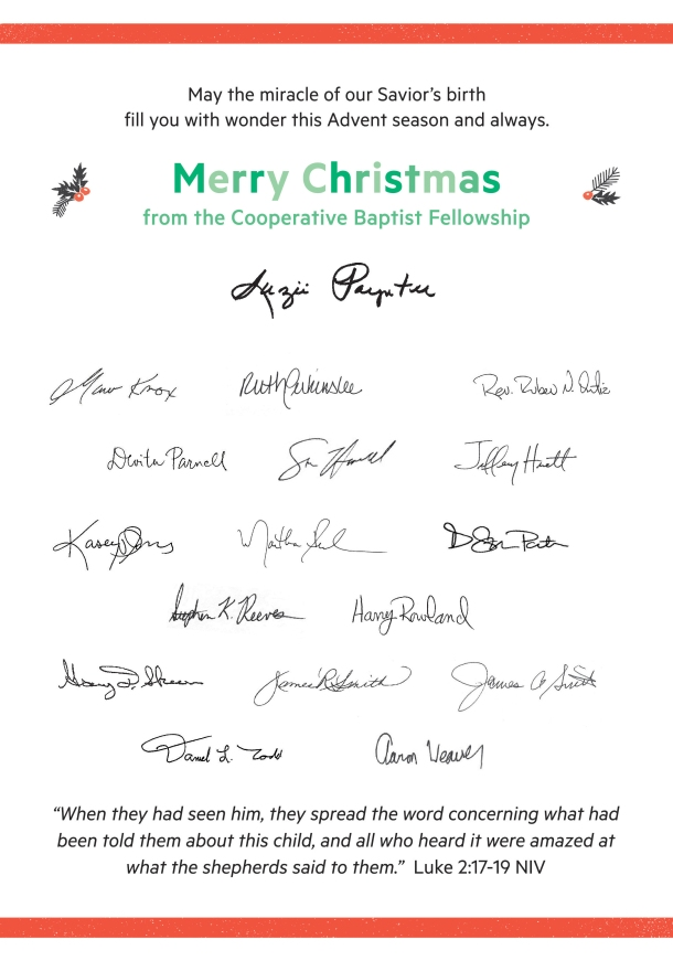 Christmas Card-Signatures