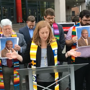 CBF Advocacy joins N.C. church at prayer vigil to ask for humanitarian release of GillesBikindou