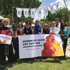 Paynter and other women faith leaders cry out for immigrant children at U.S.-Mexico border.