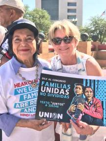 """Delores Huerta, a true light, calls for fasting 24 hours for the 2,400 children separated from families."" -Suzii Paynter"