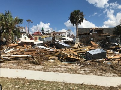 Buildings in the Port St. Joe area were flattened from high winds and the storm surge.
