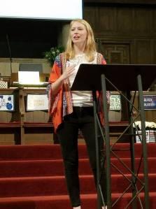 Camille Loomis preaching