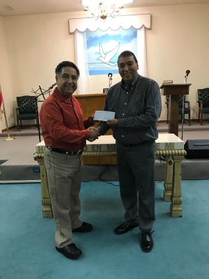 Pastor Jose Abad-Ortiz (left) of Primera Iglesia Bautista of Sinton, Texas, with Jorge Zapata, associate coordinator of CBF Texas