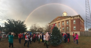 After Christmas Parade Rainbow over Trenton Courthouse