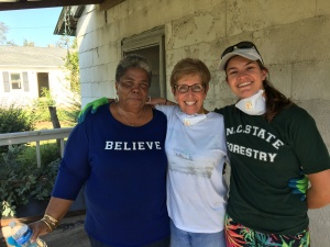 Trenton resident Wendy Willie with Zebulon Baptist volunteers, June