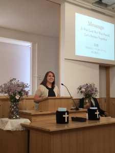 Laura Kanazawa sermon