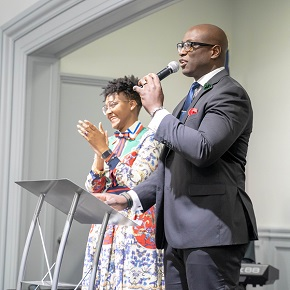 Support in San Antonio—CBF church starters Kan'Dace and Fredricc Brock feel the Fellowship network around The MessageChurch