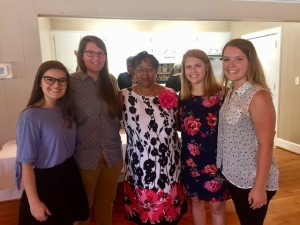 Interns with Frances