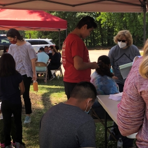 CBF Field Personnel and Community Partners Provide Vaccine Drive for Refugee and Immigrant Community in Raleigh,N.C.
